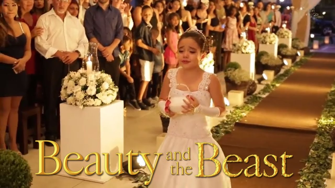 Emotional Flower Girl At Wedding Disney S Beauty And The Beast Theme Song Youtube