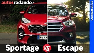 Comparativa KIA SPORTAGE vs FORD ESCAPE 2019 