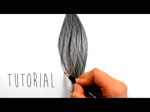 Tutorial | How to draw, shade realistic hair with graphite pencils | Emmy Kalia