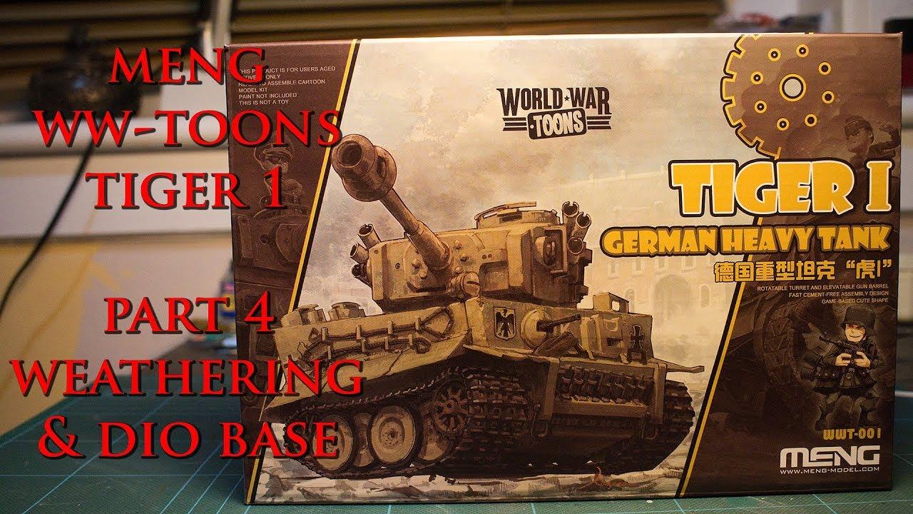 Meng Toons Tiger 1, Pt4, Weathering & Diorama Base