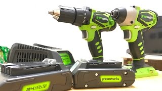 Greenworks 24V Drill & Impact Driver Demo