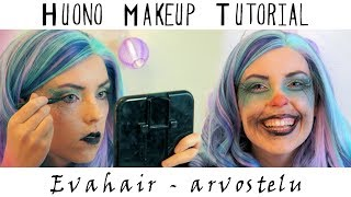Huonoin makeup tutorial ikinä [Evahair - peruukkiarvostelu]
