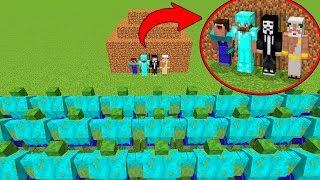 Minecraft Battle: NOOB vs PRO vs HACKER vs GOD : ZOMBIE MUTANT APOCALYPSE Challenge in Minecraft