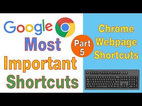 Google Chrome Top Most Usable Webpage Shortcut Keys for 2019 in Urdu Hindi thumbnail