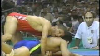 1996 Atlantas Olympic Free 62kg class round 9 Tedeyev Elbrus (UKR) ...