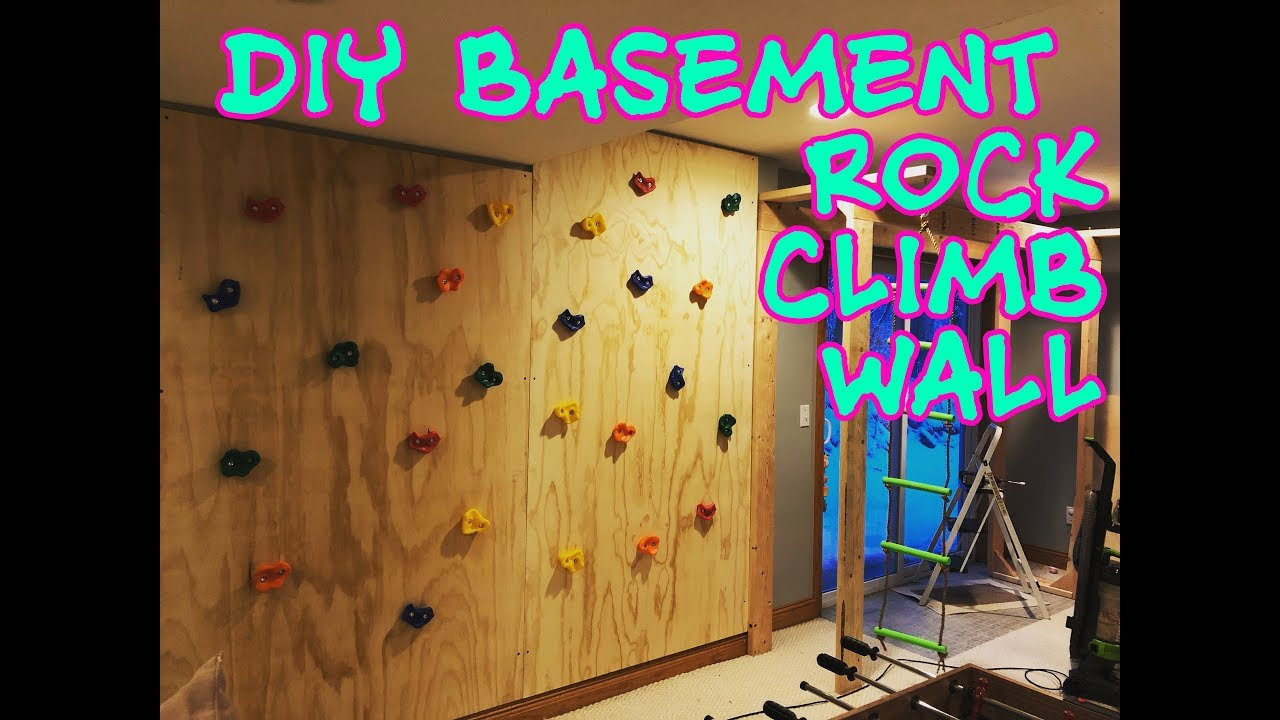 Diy Climbing Rock Wall In My Basement For The Kids