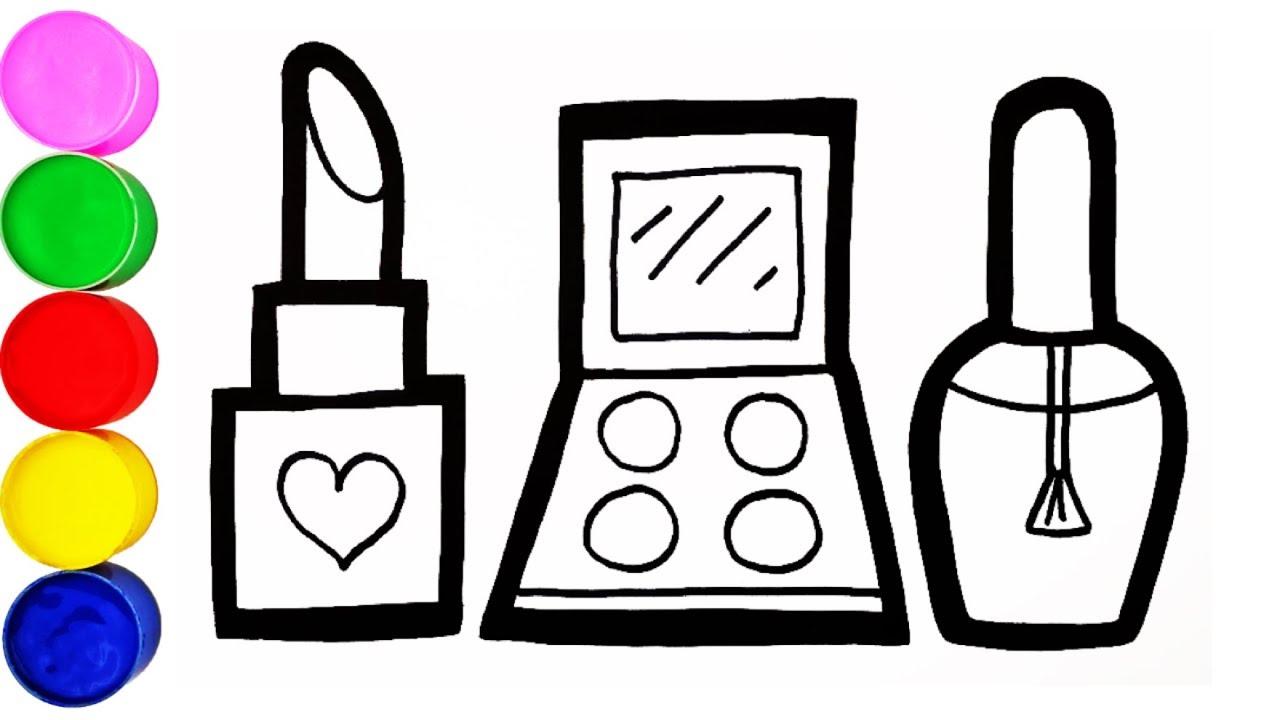 Makeup Zubehör Zeichnen und Malen für Kinder Farben Lernen ...