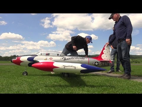 THUNDERBOLT T-33 SCALE TURBINE RC JET 2017 SWITZERLAND