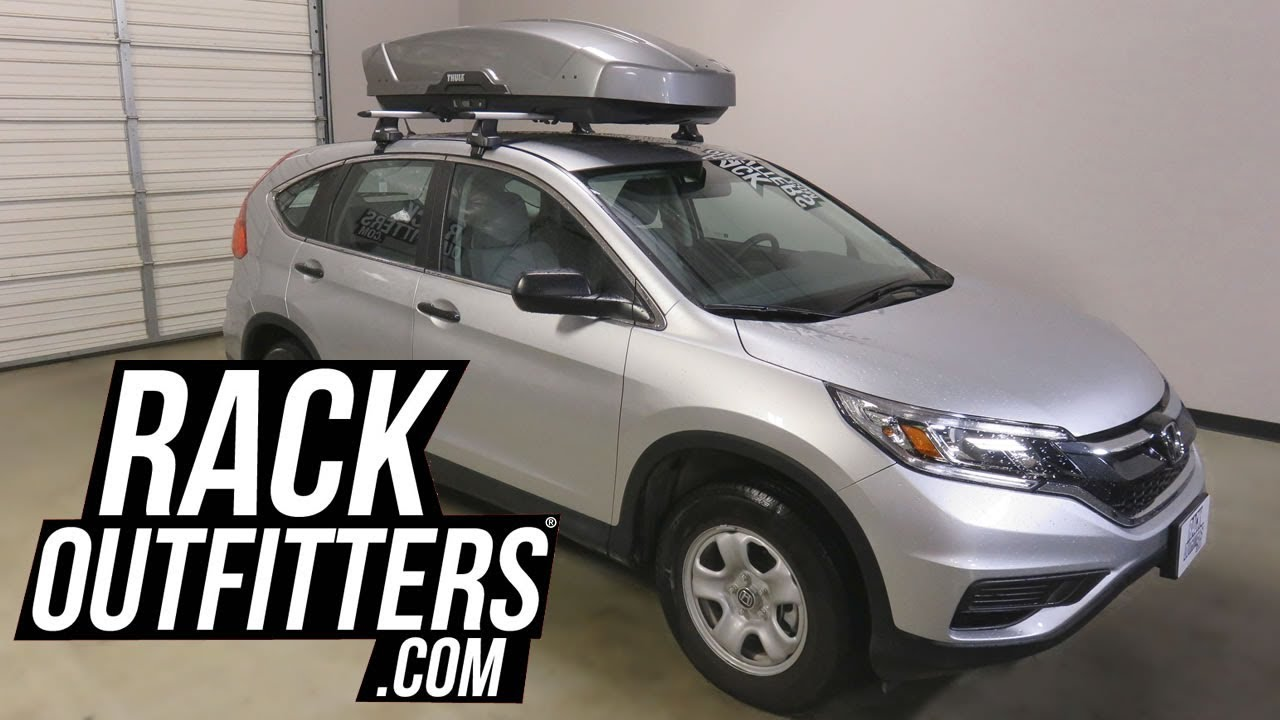 honda crv with thule motion xt large 16 cubic foot roof top luggage cargo box