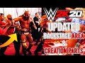 WWE 2K20: UPDATED BACKSTAGE AREA & NEW CREATION PARTS