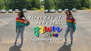 GRWM FIRST DAY OF SCHOOL + SCHOOL VLOG 2019-2020 📚