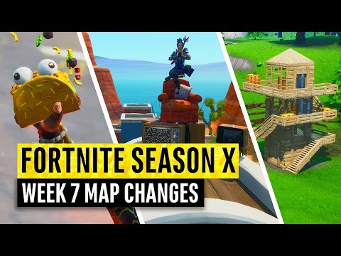 Fortnite | All Season X Map Updates And Hidden Secrets! WEEK 7