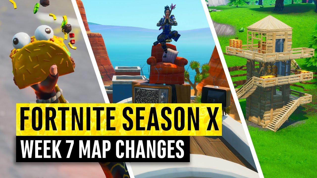 Fortnite All Season X Map Updates And Hidden Secrets Week 7