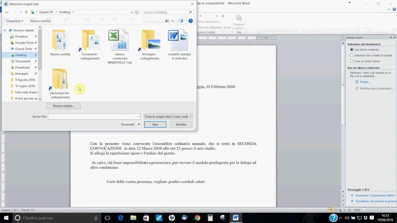 9013611bf9 Videocorso sulla stampa unione con Word - YouTube