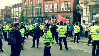Nazis (NF) attempt to invade Wigan