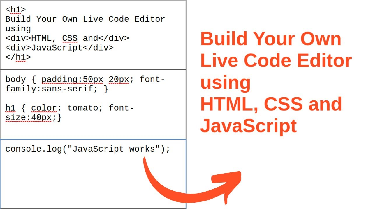 How to Build Your Own Live Code Editor using HTML, CSS & JavaScript