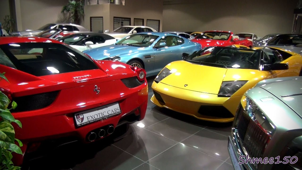 How Many Supercars Can You Squeeze Into A Showroom? Exotic Cars, Dubai    YouTube