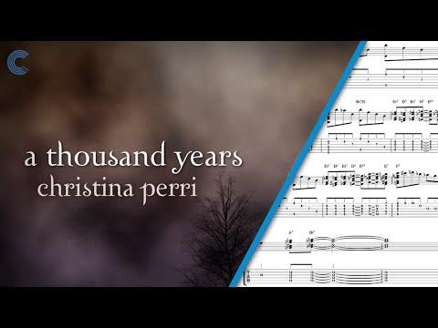 A Thousand Years - Christina Perri - Violin Sheet Music, Chords, and Vocals