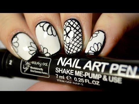 Рисунки на ногтях фломастером - Nail Art Marker