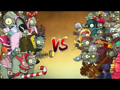 PvZ 2 - Epic!!! Zombisteins Festivos vs Zombisteins de todos los Mundos