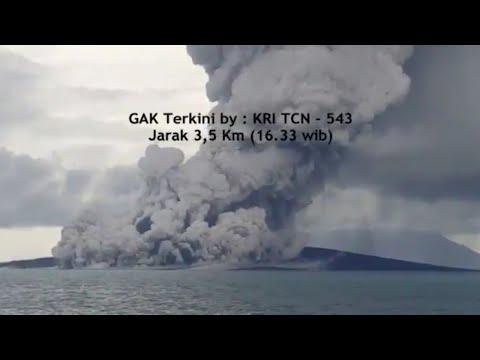 Volume Tubuh Gunung Anak Krakatau Berkurang