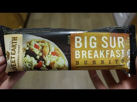 Sweet Earth Big Sur Breakfast Burrito Taste Test (vegan burrito review)