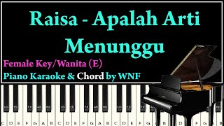 Download Lagu Raisa - Apalah Arti Menunggu Piano Karaoke Versi Wanita/Asli | Piano Synthesia mp3