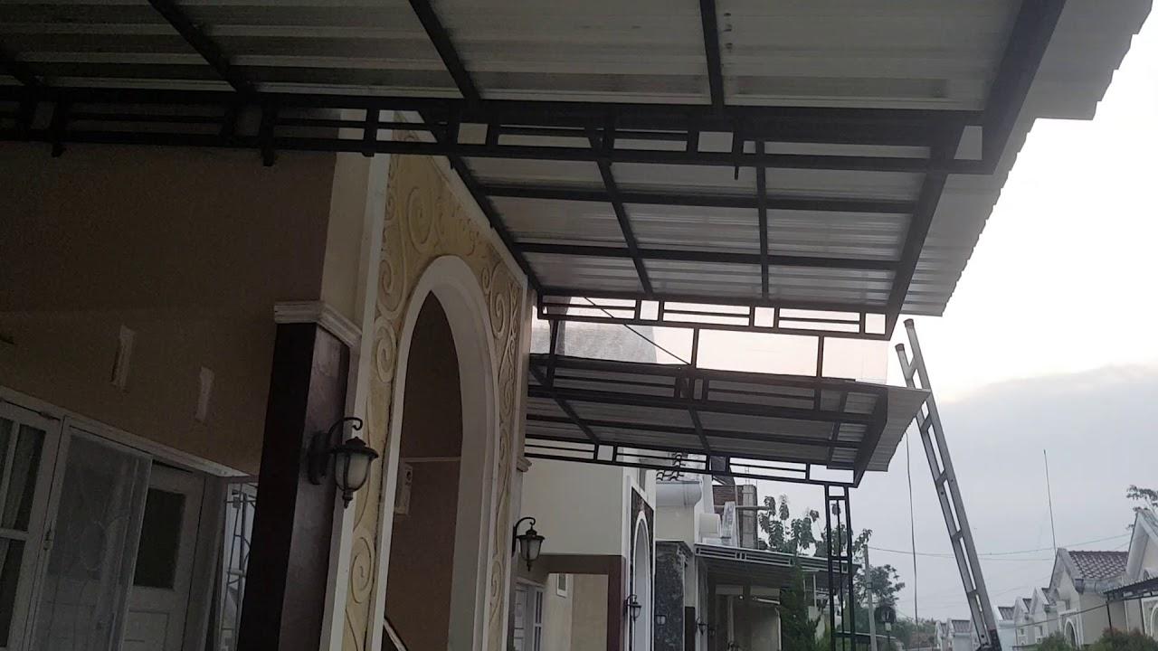 kanopi baja ringan tanpa tiang penyangga desain rumah minimalis youtube
