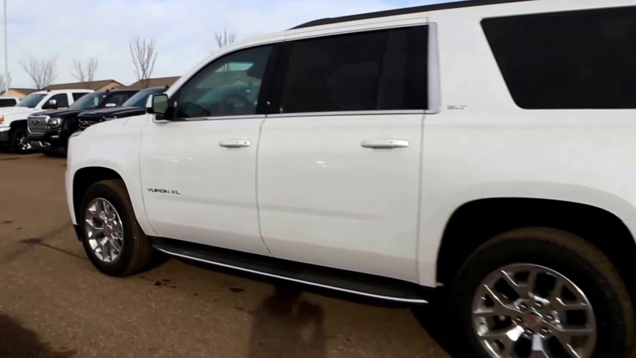White Frost Tricoat 2017 GMC Yukon XL SLT for sale in ...