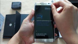 Galaxy S7 Edge Duos- Silver Titanium- 32GB Unboxing