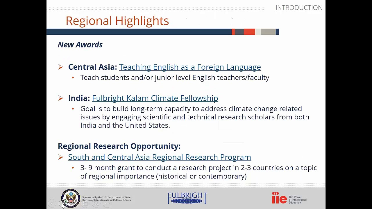 Fulbright U S  Scholar Opportunities in South and Central