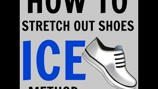 cheap and affordable: How to stretch out shoes (ice method)