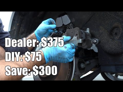 DIY rear brake pads replacement on a SPA Volvo with electronic parking – save $300! XC90 XC60 S60