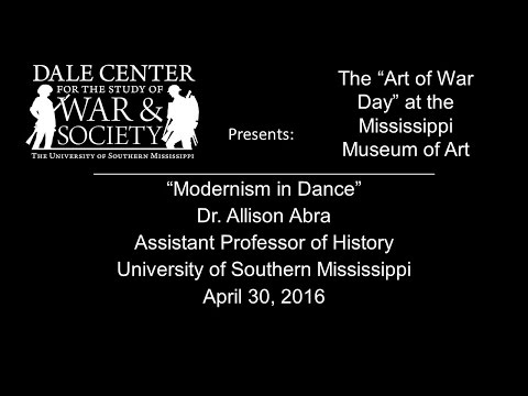 "Dr. Allison Abra ""Modernism in Dance"""