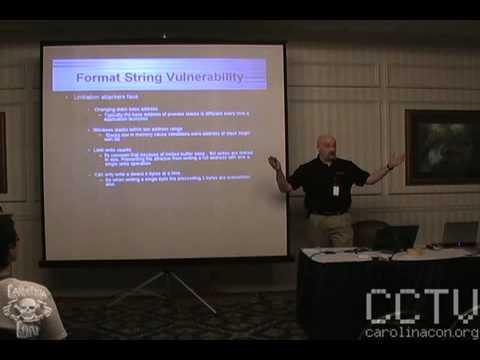 Format String Vulnerabilities 101 - CarolinaCon 4