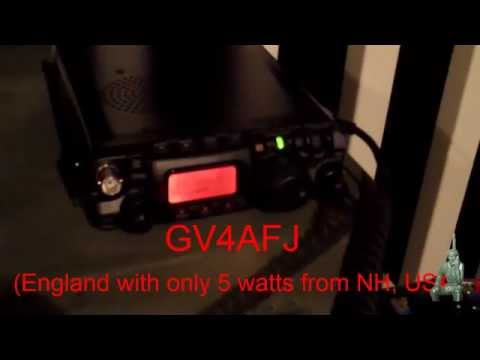 FT-817ND New Hampshire to England with Only 5 Watts