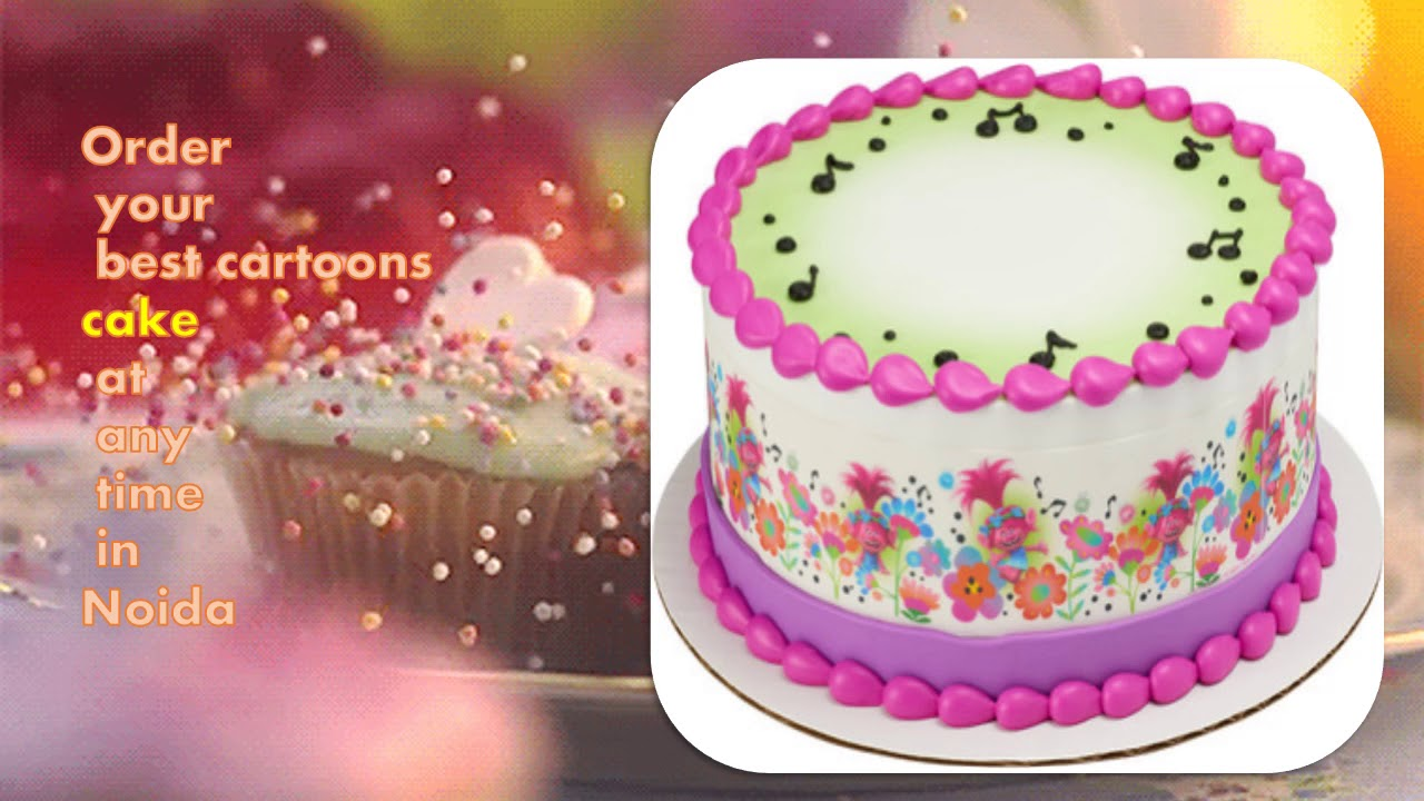 Online Birthday Eggless Cake And Flowers To Noida Youtube