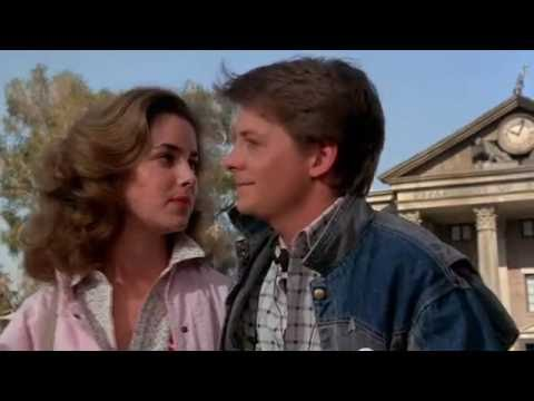 Back to the future scene 1985