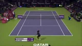 Serena Williams vs. Urszula Radwanska-2013 Doha, Qatar Open ⇨R3⇦ Highlights in HD