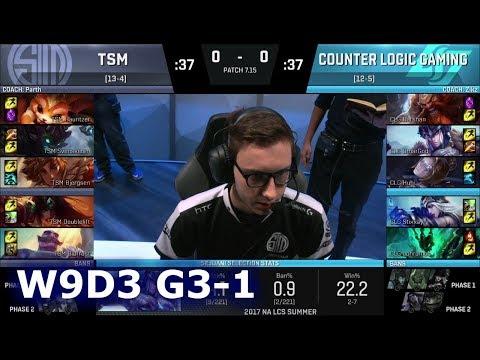 TSM vs CLG | Game 1 S7 NA LCS Summer 2017 Week 9 Day 3 | CLG vs TSM G1 W9D3