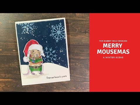 The Rabbit Hole Designs | Merry Mousemas | TRHD Blog | Copic Coloring