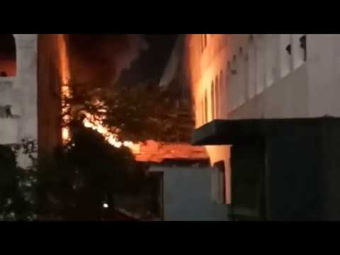Fire at SATHYABAMA COLLEGE Campus