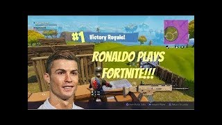 Cristiano Ronaldo Plays Fortnite For The First Time (and he's good at it!?!)
