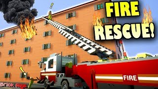 BOB and BOB BECOME FIRE FIGHTERS! - Brick Rigs Multiplayer Gameplay Ep25