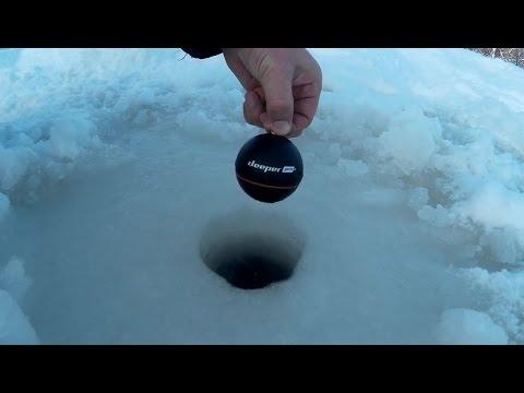 """Беспроводной Эхолот Для Рыбалки """"Deeper Sonar Pro Plus"""" - Зимний Обзор Видео"""