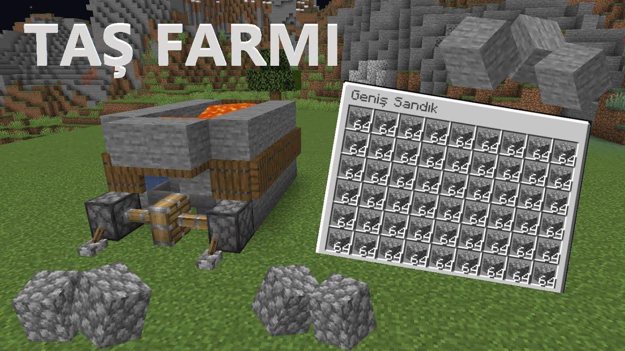 Minecraft Sınırsız Kolay Taş Farmi! 1.16 / 1.15