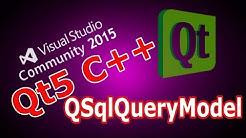 Qt5 C++ QSqlQueryModel With Mysql Database & QTableView  #34
