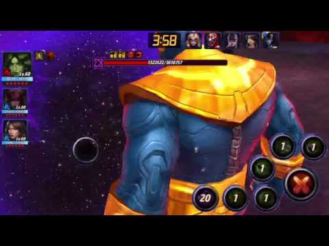Marvel Future Fight: WB - THANOS (INFINITY) | Sharon Rogers T1 SOLO !!
