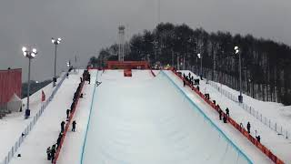 2018 PyeongChang Olympic Snowboard Halfpipe Final Run 1-Shaun WHITE at Phoenix Snowpark