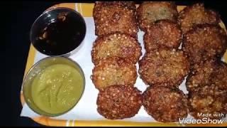 Sabudana bada! by kanchan cooking recipe